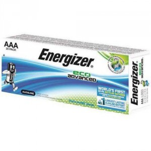 20 Piles AAA LR03 Eco Advanced ENERGIZER